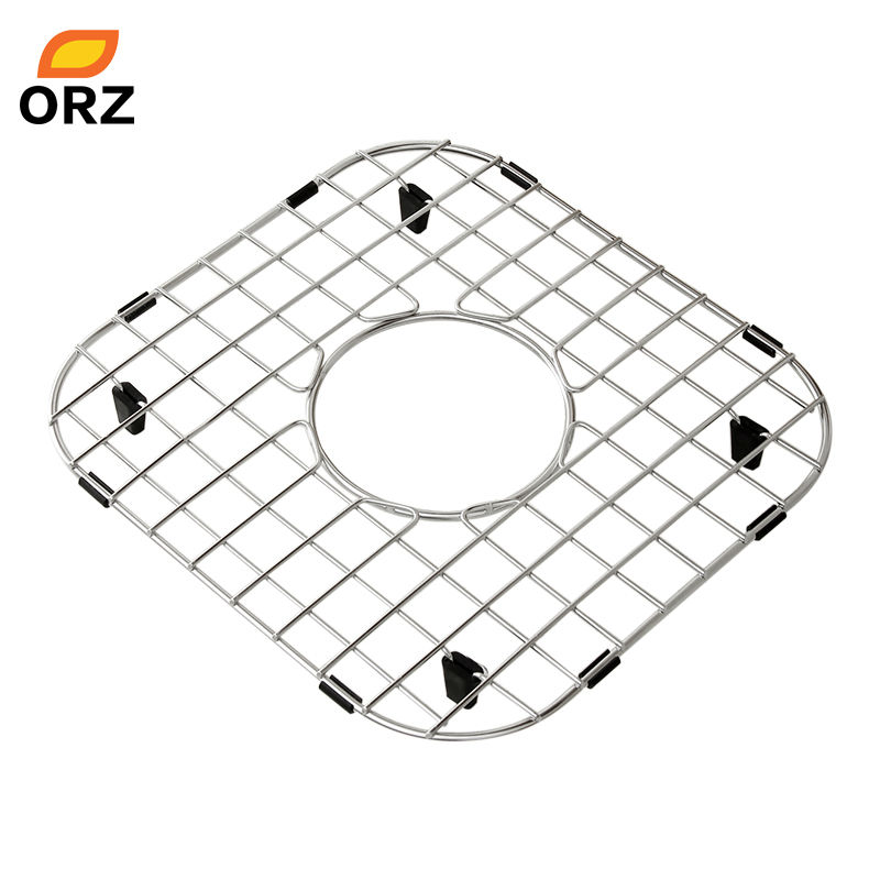 orz kitchen sink bottom grid strainer filter rack stainless steel protective grid rack kitchen tools - Kitchen Sink Grids