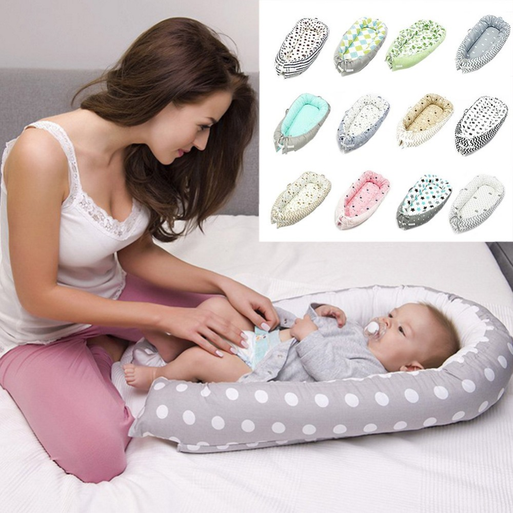 Baby Nest Bed Crib Portable Removable And Washable Crib Travel Bed For Children Infant Kids Cotton CradleBaby Nest Bed Crib Portable Removable And Washable Crib Travel Bed For Children Infant Kids Cotton Cradle