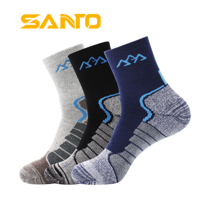 3Pairs/lot 2020 Thick Coolmax Socks Men's Quick-drying Warm Thermal Socks Patchwork Breathable Casual Socks Meias Masculinas