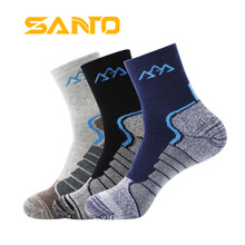 3Pairs/lot 2020 Thick Coolmax Socks Mens Quick drying Warm Thermal Socks Patchwork Breathable Casual Socks Meias Masculinas