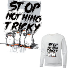 funny penguin iron on patches for clothing thermal sticker heat transfert thermocollants t-shirt diy patch vetement parches ropa