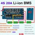 2 PCS/um monte 4S 20A lipo de Polímero de lítio BMS/PCM/PCB placa de proteção da bateria para 4 pacotes de 18650 Li-ion Célula de Bateria