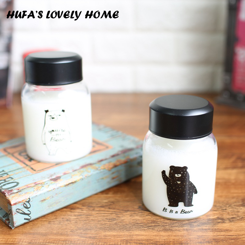 200ml My Portable Leak-proof Glass Water Bottle Milk Coffee Tea Bottle Home Office caneca dolce gusto