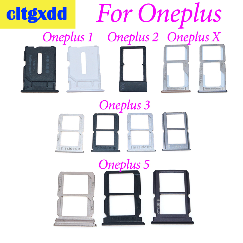 cltgxdd 1 Piece SIM Card Socket For <font><b>Oneplus</b></font> 1 2 3 <font><b>5</b></font> <font><b>Oneplus</b></font> X SIM Card Tray Holder Slot Part <font><b>Smartphone</b></font> Replace Part Repair image