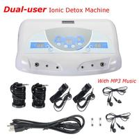 Dual user Ionic Detox Machine Foot Bath Spa Tool LCD w/ MP3 Music Cleanse Salon