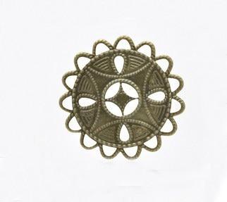 Min order 3usd Bronze Tone Filigree Flower metal piece Wraps Jewelry Findings Connectors Embellishments Findings in Jewelry Findings Components from Jewelry Accessories