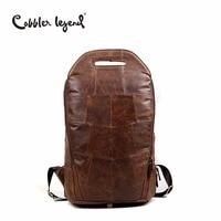 Cobbler Legend 2019 Men Cowhide Genuine Leather Fashion Vintage Backpacks Large Capacity Shoulder Travelling Bag For Teenage