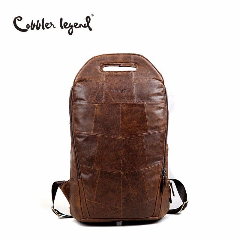 Cordonnier Legend 2019 hommes peau de vache en cuir véritable mode Vintage sacs à dos grande capacité épaule sac de voyage pour adolescent