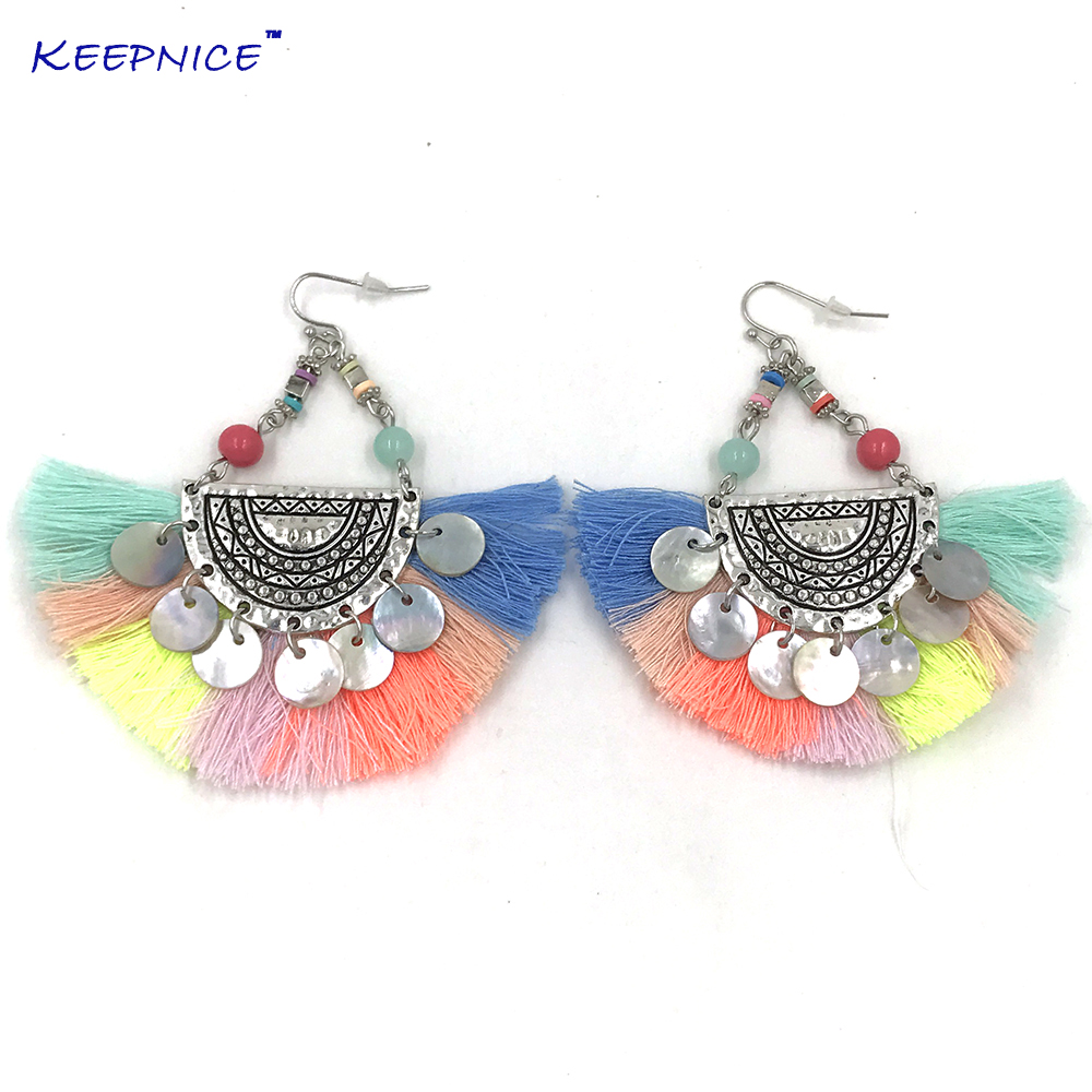 2018 new handmade ethnic gypsy party jewelry crystal chandelier 2018 new handmade ethnic gypsy party jewelry crystal chandelier earrings colorful tassel charm dangle science earring in drop earrings from jewelry arubaitofo Images