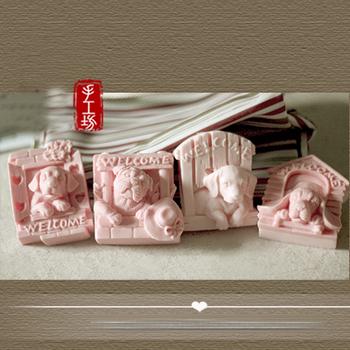 PRZY 3D formy 4 mile widziane psy mydło silikonowe zwierzęta mydło formy aromat formy robienie mydła formy glina żywiczna formy gumy silikonowej tanie i dobre opinie CN (pochodzenie) CE UE Przybory do ciasta Ekologiczne Z gumy silikonowej DW0123 DW0124 DW0125 DW0126