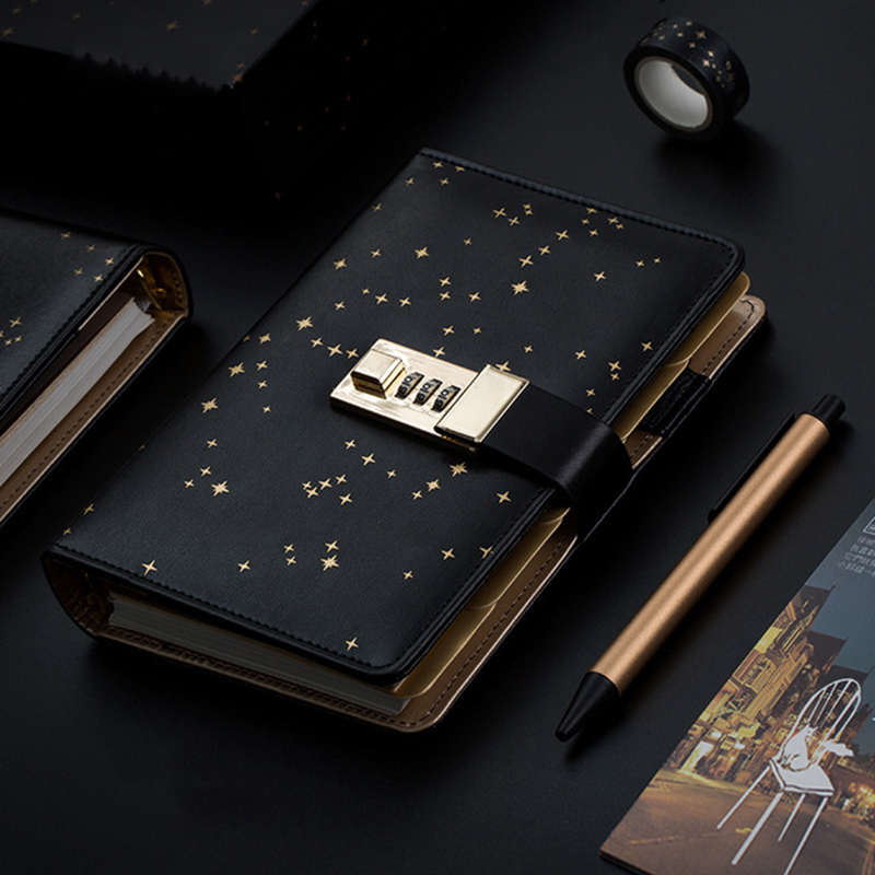 Kawaii A6 Дневник Блокнот Bullet Journal Star Handbook спиральная записная книжка Сделай Сам Блокнот бизнес-блокнот подарочный набор + ручка + лента
