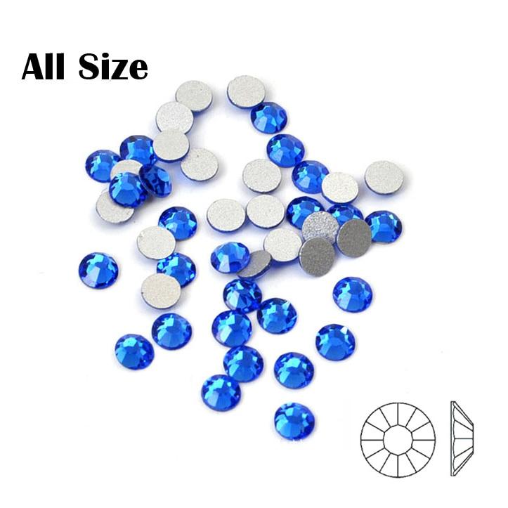 2058NoHF Sapphire Qeyri-adi düzəldici kristallar Düz dırnaq - Dırnaq sənəti - Fotoqrafiya 3
