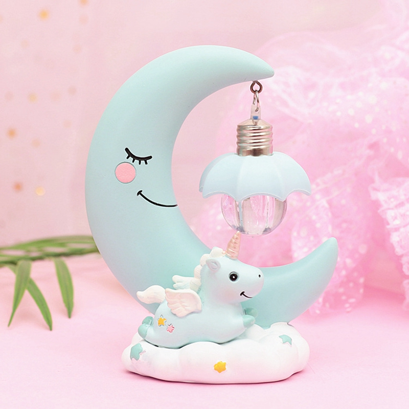 HTB1X.jXX4rvK1RjSszeq6yObFXaR LED Night Light Unicorn Moon Resin Cartoon Night Lamp Luminaria Romantic Bedroom Decor Night Lamp Baby Kids Birthday Xmas Gift