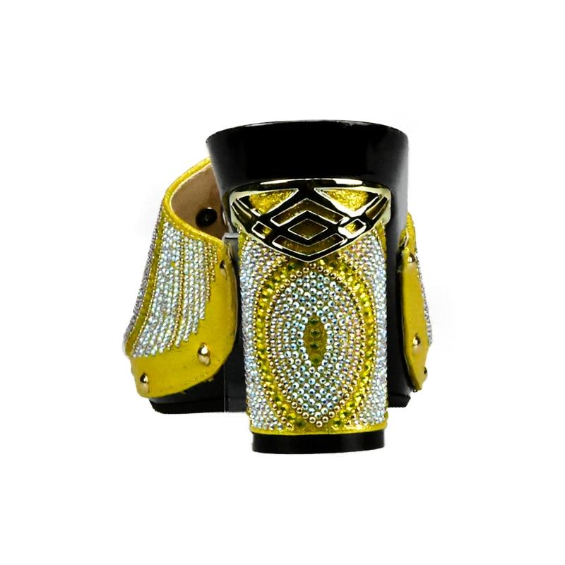 Mis Pour Femmes Ensembles Et Couleur Sac or Italie Les En vert Mariage De argent jaune bleu Robe Africains Jaune Ensemble Chaussures Nouvelle Noir cXnqpYwx00