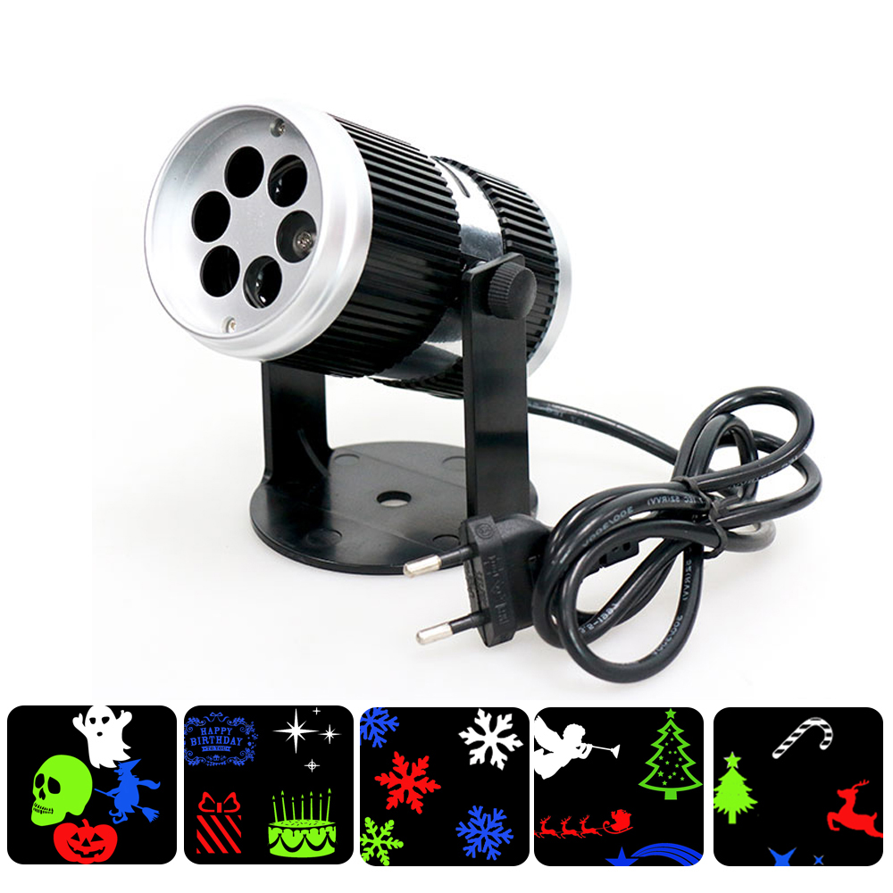 Us 19 53 28 Off Christmas Holiday Rgb Fairy Lights Eu Uk Plug Laser Projector Moving Snowflaker Indoor Party Decorating Birthday Wedding In
