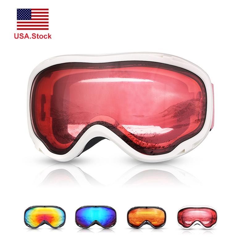 New Ski Goggles Snowboard Men Women Double Layers Anti-fog UV400 Snowmobile Skiing Glasses Mask Eyewear Professional US.Stock
