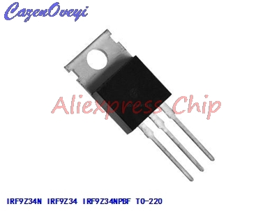 10pcs/lot IRF9Z34N IRF9Z34 IRF9Z34NPBF MOSFET MOSFT PCh -55V -17A 100mOhm 23.3nC TO-220 New Original In Stock