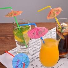Straws Umbrella Dringking Catering Cocktail Party 10PCS Bar Club Pub Restaurant