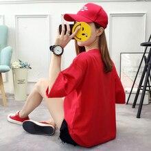 Women's Fashion Casual Cartoon Garfield Print Korean V-neck Tshirts