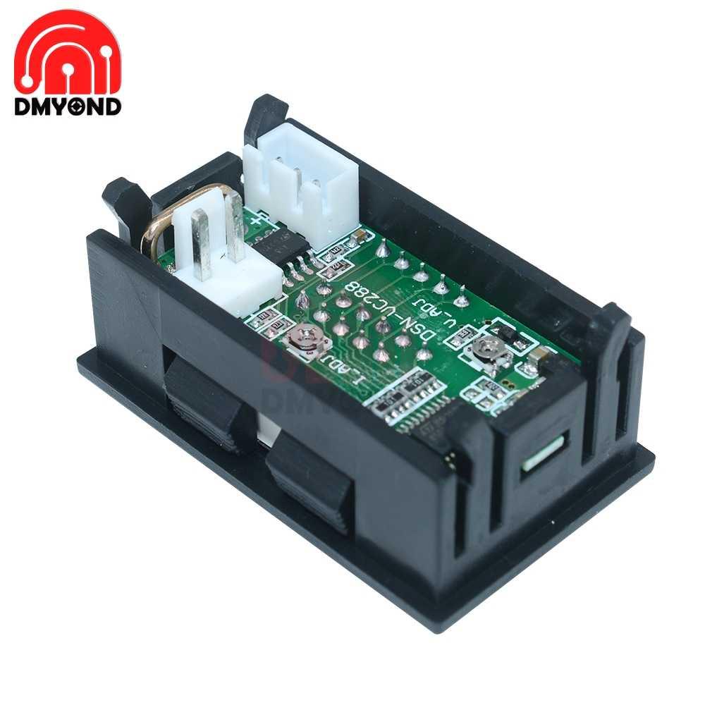 DC 100V 10A Digital Mini voltímetro amperímetro Panel voltaje voltímetro medidor de corriente probador verde Dual LED