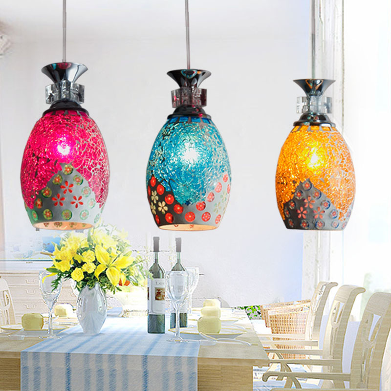 European turkish mosaic retro pendant light bar dining room kitchen lamp