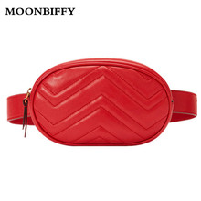 цена на Waist Bag Women Waist fanny Packs belt bag luxury brand leather chest handbag red black color 2018 new fashion hight quality
