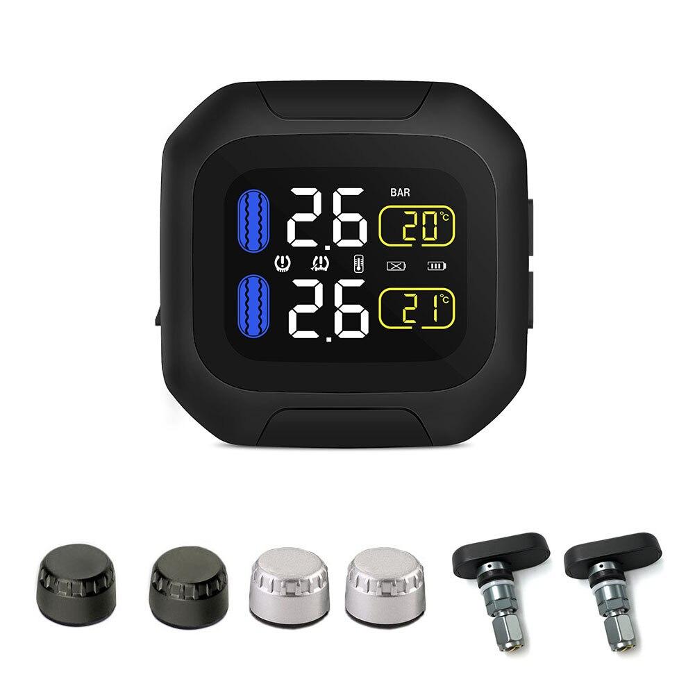 M3 Moto À Prova D' Água Em Tempo Real Sistema de Monitoramento de Pressão Dos Pneus TPMS Sem Fio Display LCD Interno ou Externo TH/WI Sensores