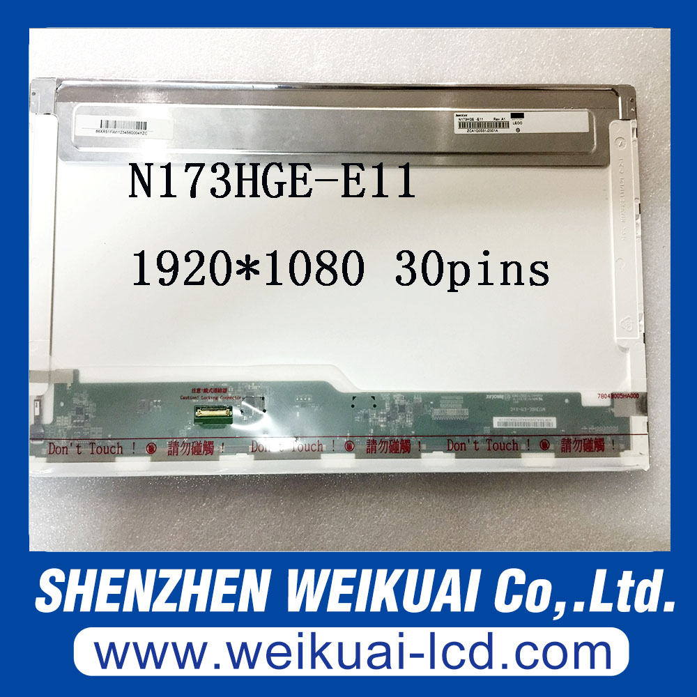 Free shipping N173HGE-E11 17.3 LED LCD Screen Fit B173HTN01.1 1920x1080 HD Display eDP 30Pin 17 3 laptop lcd screen led backlight 30 pin fit for asus g74sx a1 n173hge e11 acerv3 772g 1920 1080