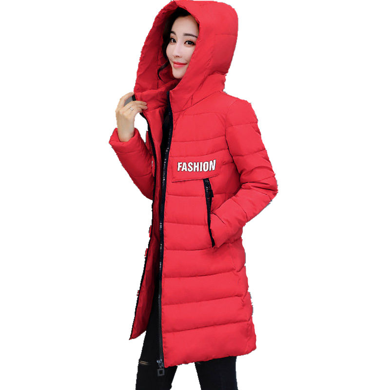 2017 Hooded Winter Coat Women Parka Warm Cotton Padded Overcoat Abrigos Mujer Invierno Chaquetas Student Long Jackets 3XL C3739 abrigos mujer invierno 2017 winter autumn cotton long basic jacket women hooded padded warm coat manteau hiver femme thick coats
