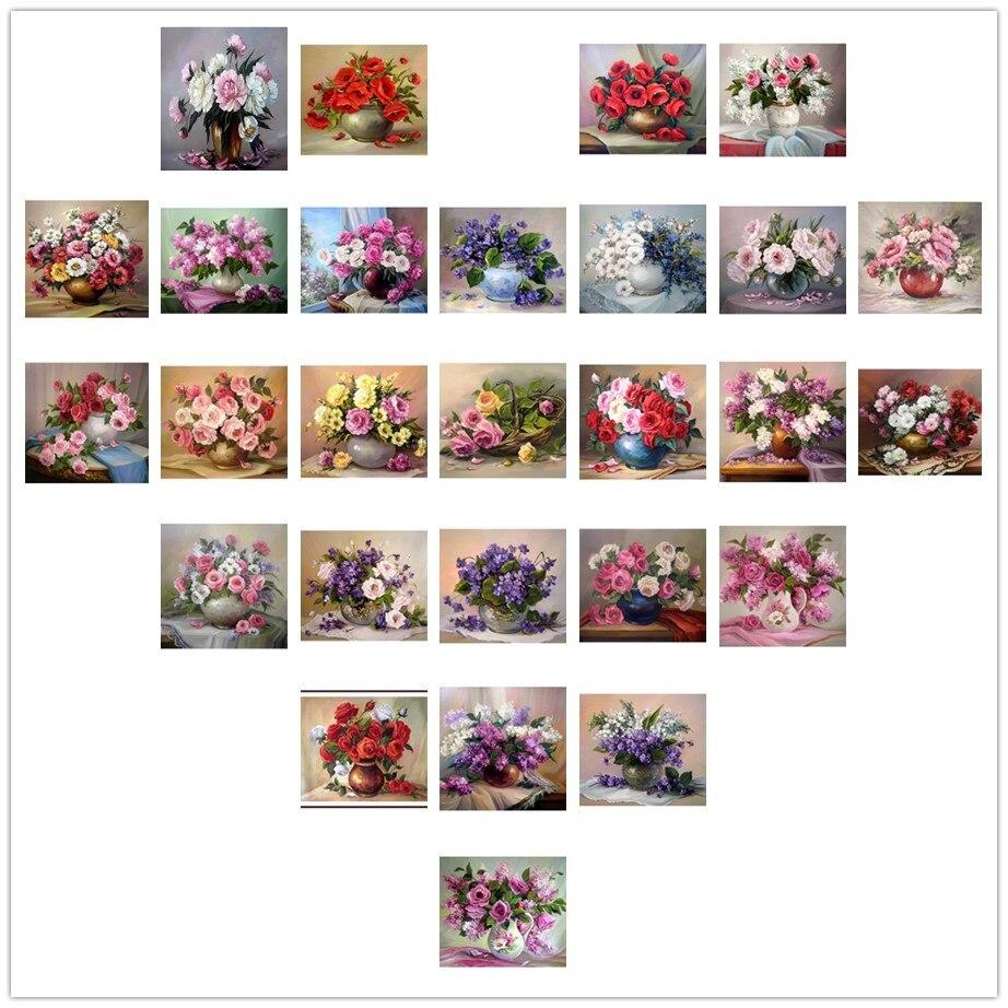 5d diy pintura diamante flores de cesta kits de punto de cruz bordado - Artes, artesanía y costura