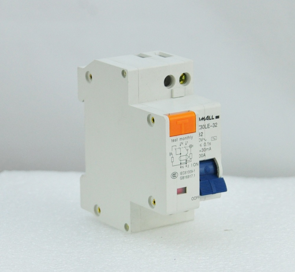 DPNL 1P N 32A 230V 50HZ 60HZ Residual current Circuit breaker with over current and Leakage protection RCBO in Circuit Breakers from Home Improvement