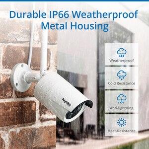 Image 5 - SANNCE 1080P 8CH bezprzewodowa kamera do monitoringu System 4 sztuk IP66 odporne na warunki atmosferyczne kamery Wifi Wi fi wideo z domu kamery monitoringu cctv Kit