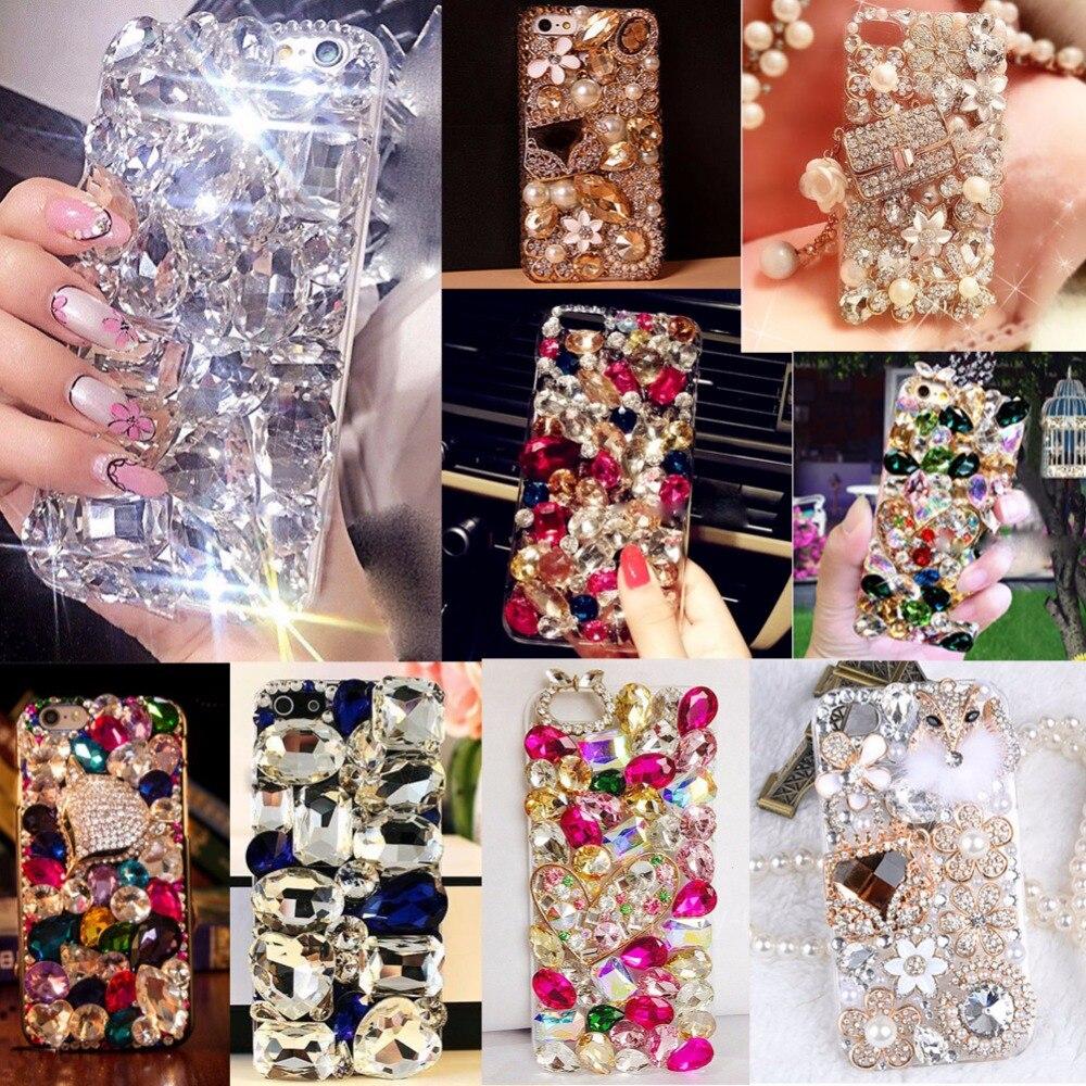 3D Handmade Soft Edge Diamond Phone Cases For Huawei Honor 5CHonor 7 liteGT3GR5 mini, Bling Rhinestone case cover