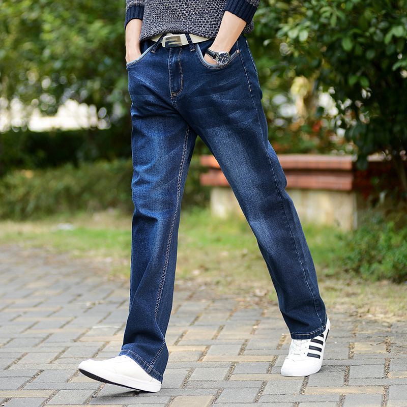 Men's Jeans High Stretch Taper Jeans Relax Denim Jean Trousers Pants Plus Size 32 33 34 35 36 38 40 42