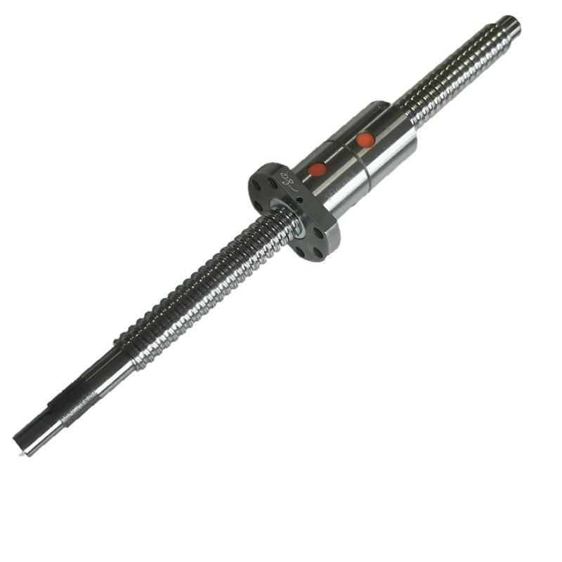 DFU2505 Ballscrew Any Length L200/300/400/500/600/700/800/900mm-Ballscrews End Machining For BKBF20 +a Double Nut  1 Set  Cnc