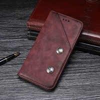 Funda de cuero con tapa y billetera de remaches Retro de lujo para umideli A5 Pro