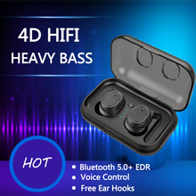 TWS Wireless Bluetooth Earphone 5.0 Noise Canceling Headphone HiFi Ear Phones Earbuds Waterproof Handfree Headset