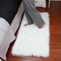 Faux Mat Soft Hairy Cloud living room Carpet Sheepskin Soft Bedroom Faux Mat Seat Pad Plain Skin Fur Area Rugs Washable mat