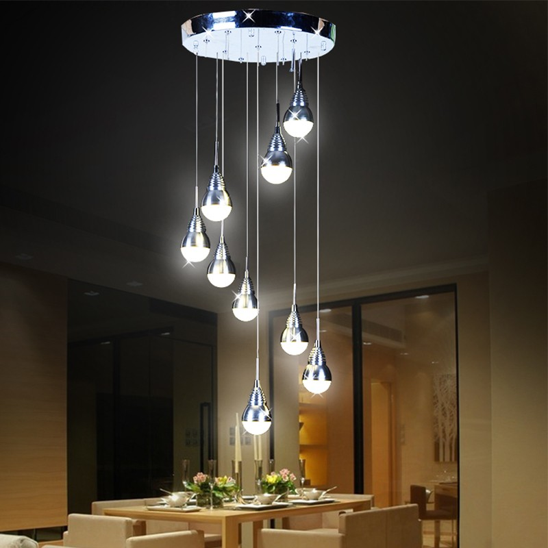 Free shipping Bocci 27 Watt Replaceable LED Bulb Pendant Light  Meteor Shower Stair Bar Droplight LED Lamp AC110-240V