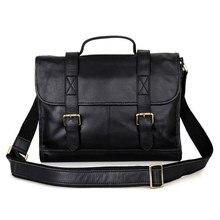2017 New Import Genuine Cowhide Soft Leather Men Briefcase Business Handbag Shoulder Bag Fit 14 Inch Laptop PR547101A