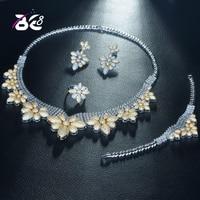 Be 8 Fashion 2 Tones African Jewelry Set for Women Zirconia Decorated Dubai Wedding Jewellery Sets Bridal Costume Jewelry S314