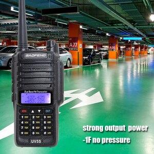 Image 2 - Impermeabile Baofeng UV 5S walkie talkie forte segnale grande potenza radio comunicador 10 km banda doppia lunga distanza radio di caccia