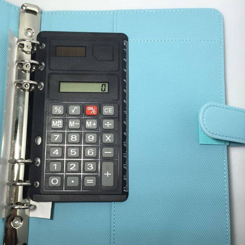 New Arrive  6 Loose Leaf  Calculator Planner Calculator Notebook Accessories Match A5 A6 Notebook