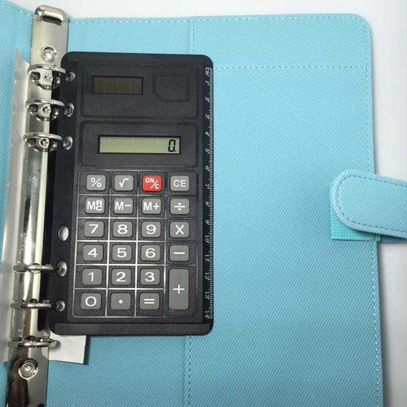 New Arrive  6 Loose Leaf  Calculator Planner Calculator Notebook Accessories Match A5 A6 Notebook