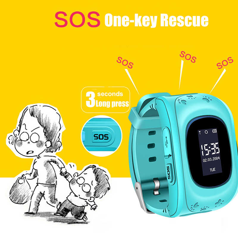 WISHDOIT Hot GPS Kids Watch Baby Smart Watch for Children SOS Call Location Finder Locator Tracker Anti Lost Monitor Smartwatch