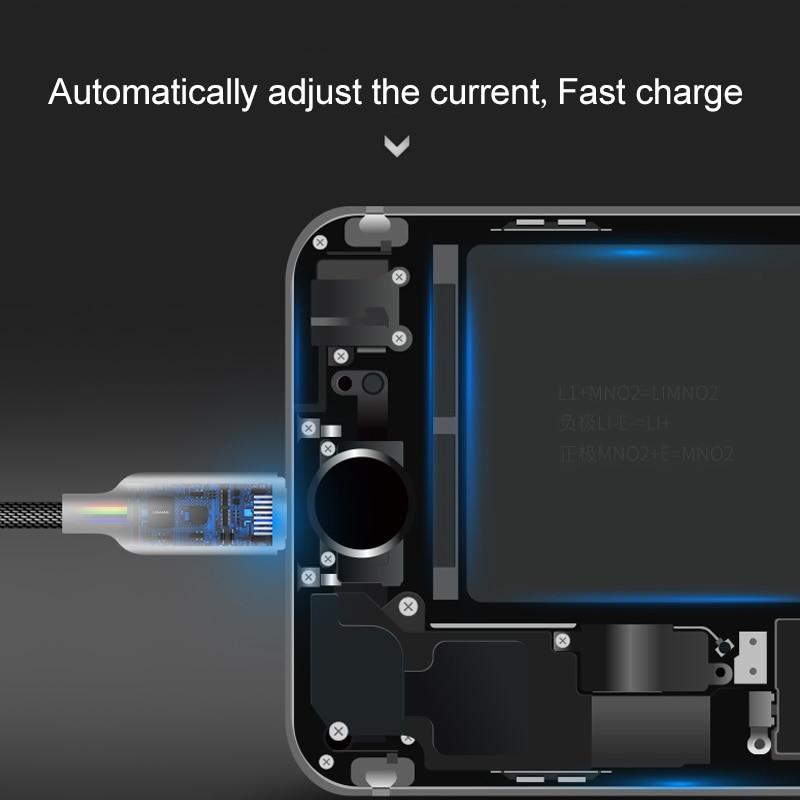 Auto trennen Usb-ladekabel für iPhone x 8 7 6 ipad USAMS Telefon ...