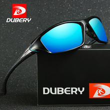 DUBERY Sunglasses Mens Driving Polarized Night Vision Sun Glasses For Men Square Sports Mirror Shades Oculos D120