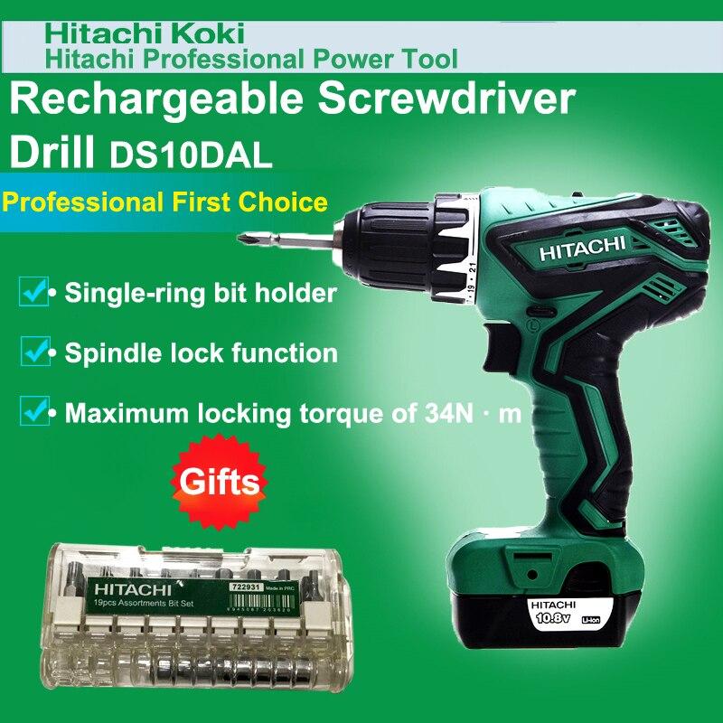 Япония Hitachi DS10DAL аккумуляторная шуруповерт электрическая ручная дрель с литиевой батареей 10,8 В 36н. М 1300/мин Электроинструмент оптом