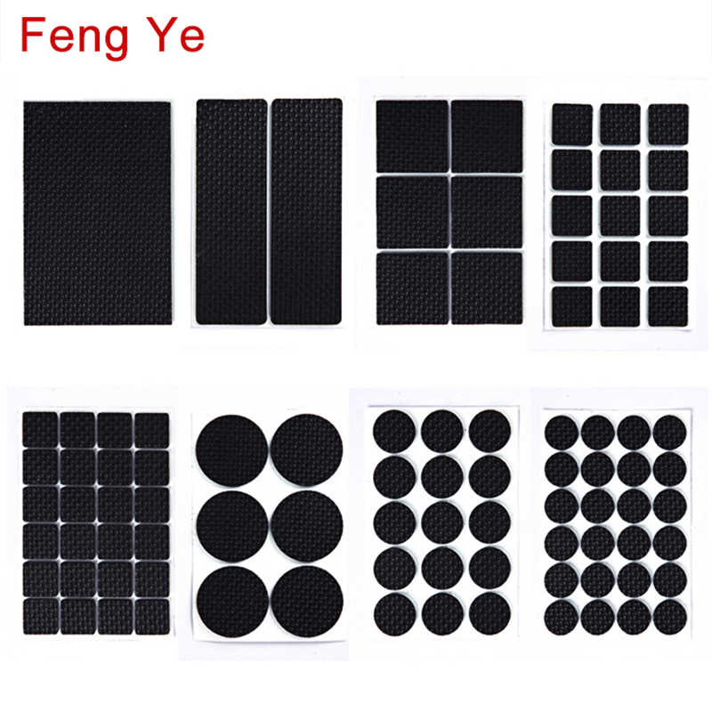 Feng Ye 1-24 PCS Self Adhesive Anti Slip Pad เฟอร์นิเจอร์ฟุตขาเก้าอี้ Felt ป้องกันการสั่นสะเทือนบัฟเฟอร์ไม้ชั้นป้องกัน