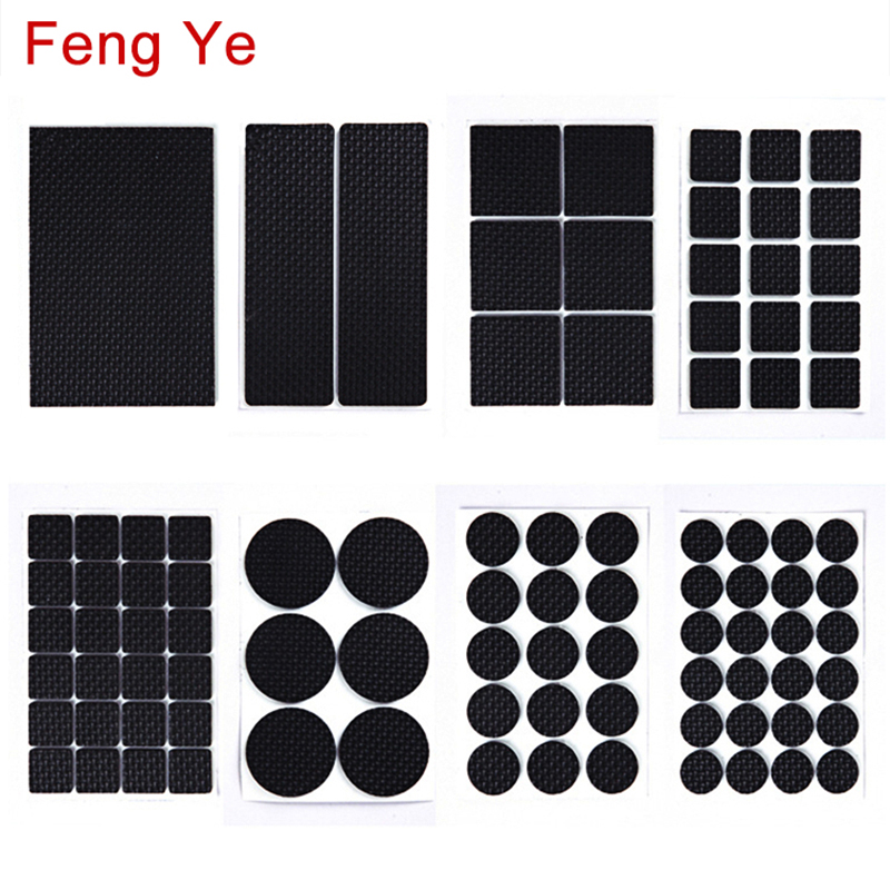 Feng Ye 1-24PCS Self Adhesive Anti Slip Pad Rubber Furniture Feet Leg Chair Felt Anti Vibration Buffer Wooden Floor Protectors